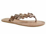OMEGA ZOEY FLAT LAIDBACK LONDON:BRONZE/DESSUS CUIR/BOTTY SELECTION Femmes