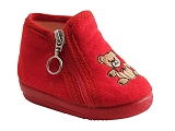 J XUNDAY BB DOG131027:ROUGE/VELOURS TISSU/CIENTA