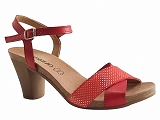 RICIO53840 SAND2401:ROUGE/DESSUS CUIR/BOTTY SELECTION Femmes