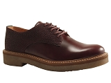 TACKTIL OXFORD:BORDEAUX/DESSUS CUIR/KICKERS