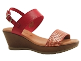 J XUNDAY BB SAND2700 CO:ROUGE/DESSUS CUIR/BOTTY SELECTION Femmes