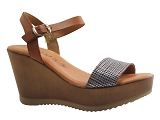 TENNIS 15004 ACQUAREL SAND2290 CO:COGNAC/DESSUS CUIR/BOTTY SELECTION Femmes