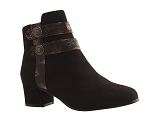 FARADAY BOOT QL3435:NOIR/VELOURS TISSU/BOTTY SELECTION Femmes