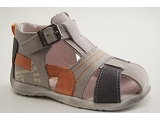 Chaussure BABYBOTTE GIULIO 1B7111-GRIS/ORANGE