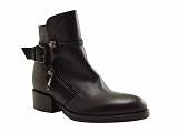 BILLY A2153:NOIR/DESSUS CUIR/JFK BY STRATEGIA