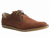 587PO 80 2052:MARRON/VELOURS NUBUCK/ON FOOT