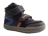SAFARI684 J ELVIS D VELCRO:NAVY/MULTI DOM. CUIR/GEOX Enfants