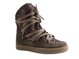 JUNGLE MOONLIGHT SPARKLE:TAUPE/MULTI DOM. CUIR/REQINS