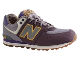 BETTINO KL574E7G:GRIS/MULTI DOM. CUIR/NEW BALANCE KIDS