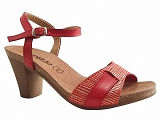 TRAI1001591 SAND2602:ROUGE/DESSUS CUIR/BOTTY SELECTION Femmes