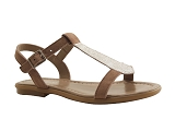 R2672 TOUPIE F:TAUPE/DESSUS CUIR/REQINS
