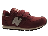 28613 KE420UNY:BORDEAUX/MULTI DOM. CUIR/NEW BALANCE KIDS