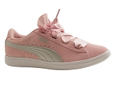 PFQ14407 VIKKY RIBBON L SATIN:ROSE/VELOURS CUIR/PUMA Adultes