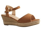 KT866 N SANDAL 815:BRUN/MULTI DOM. TOILE/BOTTY SELECTION Femmes