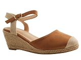 KGB103 SANDAL 621:CAMEL/MULTI DOM. TOILE/BOTTY SELECTION Femmes