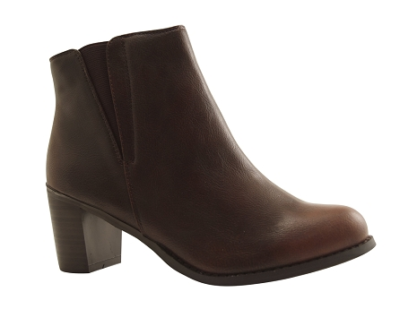 Botty selection femmes boot tdf2725 cognac